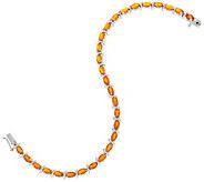 Fire Opal 6-3/4 Tennis Bracelet, 3.20 cttw, Sterling Silver - J354318