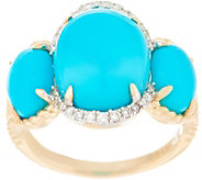 Sleeping Beauty Turquoise and Diamond Ring, 14K - J355618