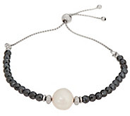 Honora Pearl And Gemstone Adjustable Bracelet, Sterling Silver - J356318