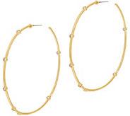 Melinda Maria Multi Stone 2-1/2 Hoop Earrings - Hilary - J357618