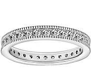 Diamonique 1.10 cttw Round Eternity Band Ring,Platinum Clad - J377618