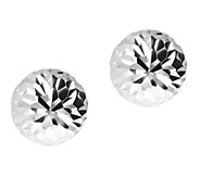 UltraFine Silver 12mm Round Diamond-Cut Bead Earrings - J392218