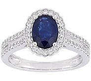 14K 1.60 cttw Sapphire & 3/10 cttw Diamond Ring - J392518