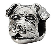 Prerogatives Sterling Rottweiler Head Bead - J299519