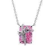 Diamonique 8.20 cttw Present Pendant Necklace, Platinum Clad - J303319