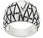 Franco P Sterling Silver Signature Heart Mosaics Ring - J330219
