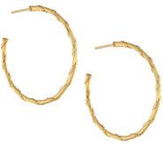 Peter Thomas Roth 18K Gold Heritage 1-1/2 Hoop Earrings - J333619