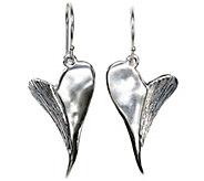 Hagit Sterling Contemporary Heart Earrings - J341819