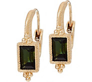 Judith Ripka 14K Gold 0.95 cttw Green Tourmaline Earrings - J349019