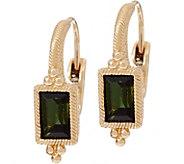 Judith Ripka 14K Gold 0.95 cttw Green Tourmaline Earrings - J349019