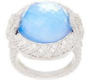 Judith Ripka Sterling Doublet & Diamonique Ring - J355419