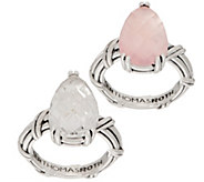 Peter Thomas Roth Sterling Silver Gemstone Pear Ring - J357019