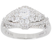 Diamonique Royal Collection Tiara Ring, Sterling Silver - J358119