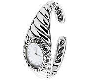 Carolyn Pollack Sterling Silver & White Mother-of-Pearl Watch - J384119