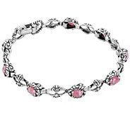 Carolyn Pollack Color Connections Gemstone Tennis Bracelet - J384419