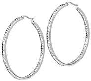 Steel by Design 2 Inside Out Hoop Earrings - J388319