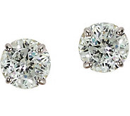 Diamonique 4.00 ct tw 100-Facet Stud Earrings,14K Gold - J110220