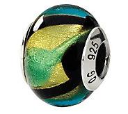 Prerogatives Sterling Multicolored Italian Murano Glass Bead - J111620