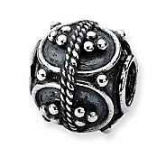 Prerogatives Sterling Studded Oval Artisan Bead - J113320