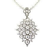 Judith Ripka Sterling Diamonique Enhancer w/ 18 Station Chain - J308220