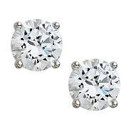 Diamonique 100-Facet Round Stud Earrings, Platinum Clad - J308620
