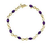 7 Gemstone Diamond Accent Infinity Bracelet, 1 4K Gold - J313920