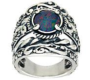 Carolyn Pollack Opal Triplet Sterling Silver Signature Design Ring - J324120