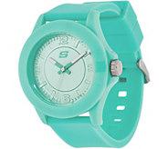 Skechers Womens Mint Silicone Strap Watch - Rosencrans - J335120