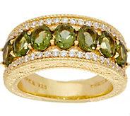 Judith Ripka 14K Clad 1.60 cttw Moldavite Band Ring - J350520