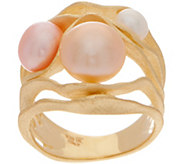 Honora Cultured Pearl Multi-color Ring, Sterling Silver - J350720