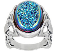 Carolyn Pollack Country Couture Drusy Sterling Silver Ring - J351720