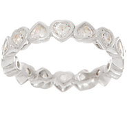 Diamonique 1.70 cts Heart Eternity Band, Sterling - J353320