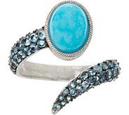 As Is Judith Ripka Sterling Turquoise & Blue Topaz Ring - J353620