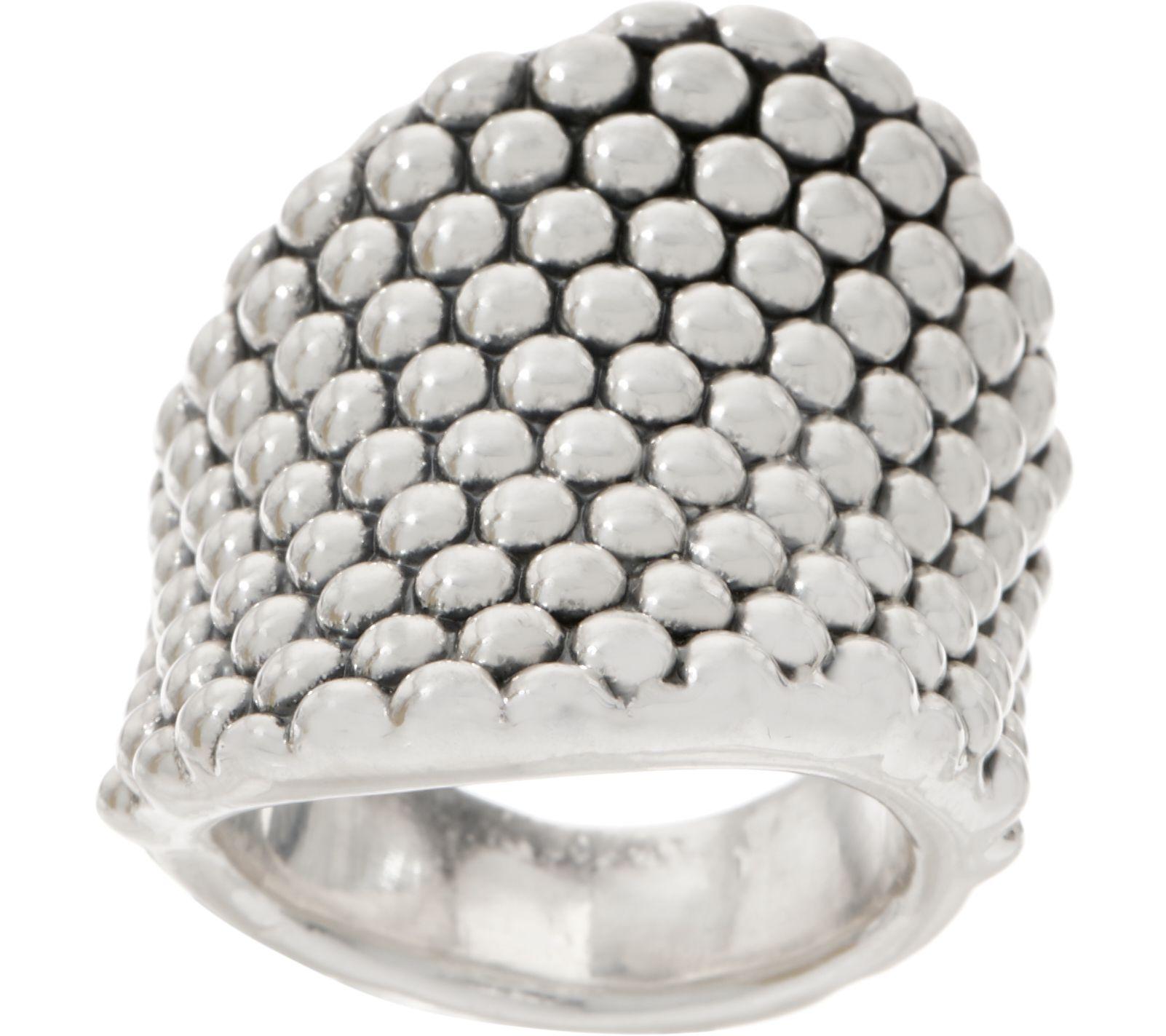 4355357ee5b4 Simon Sebbag Sterling Silver Prosecco Wave Ring — QVC.com