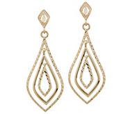 14K Gold Teardrop Dangle Earrings - J355620