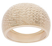 Italian Gold Tapered Band Ring, 14K Gold - J355720