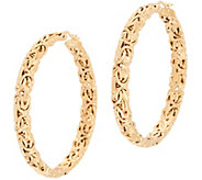 14K Gold 2 Byzantine Hoop Earrings - J357220