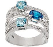 Diamonique Multi-Row Band Ring, Sterling - J357620