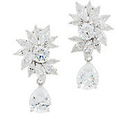 TOVA Diamonique 11.00 cttw Statement Drop Earrings, Sterling Silver - J358820