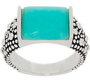Michael Dawkins Sterling Silver Starry Night Gemstone Tapered Ring - J359120