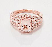 Elongated Cushion-Cut Morganite Diamond Ring, 1.80 cttw, 14K - J360020