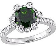 14K 2.40 cttw Gemstone & 1/2 cttw Diamond HaloRing - J377120