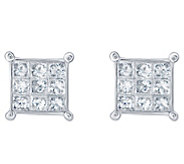 Affinity 14K 1/2 cttw Princess-Cut Invisible-Set Stud Earring - J382320