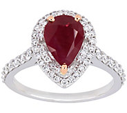 14K 2.20 cttw Ruby & 2/3 cttw Diamond CocktailRing - J392520