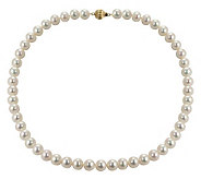 Honora Cultured Pearl 8.0mm Semi-Round 18 Necklace, 14K - J102621