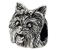 Prerogatives Sterling Yorkshire Terrier Head Bead - J299521