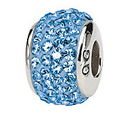 Prerogatives Sterling Light Blue Full SwarovskiCrystal Bead - J299621