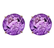 Round 8.00 cttw Citrine or Amethyst StudEarrings, 14K - J303321