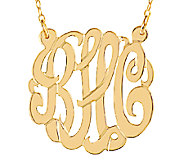 Sterling & Plated 7/8 Personalized Script Monogram Necklace - J337621