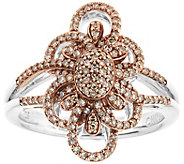 Champagne Diamond Ring, Sterling, 1/2 cttw, byAffinity - J344121